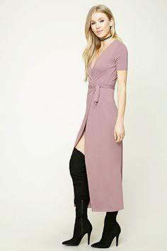 Wrap-Front Maxi Dress