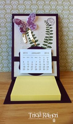 Butterfly Basics Easel Calendar and post a note holder. Cute idea I can make for my coworkers.