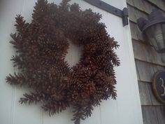 Fresh Pinecone Wreath  Maine Pinecone 19''  other by scarletsmile
