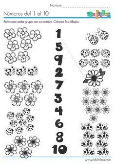 Kindergarten Math Worksheets, Kindergarten Worksheets, Worksheets For Kids, Preschool Activities, Teaching Numbers, Numbers Preschool, Preschool Math, Maternelle Grande Section, Math For Kids