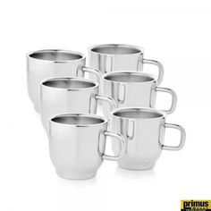 Primus Steel Radon 6 Pc Tea Cup Set