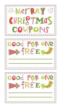 Gift coupon template christmas