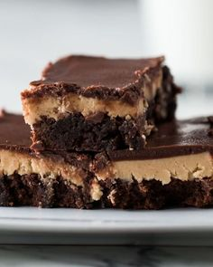 Chocolate peanut butter brownies-- sub sunbutter Servings: 16