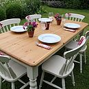 Shabby Chic Painted Dining Table & Six Chairs - furniture