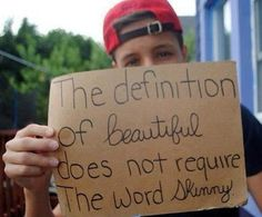 You're all beautiful, no matter what size, remember that <3