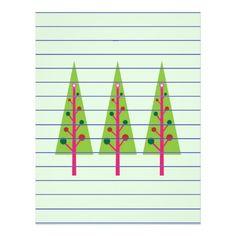Christmas Trees Letterhead Design  #Christmas #Tree #Stationery