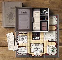 Vintage bookshelf Clue from Restoration Hardware. Folds up into a book and you store it on the shelf! I want it!