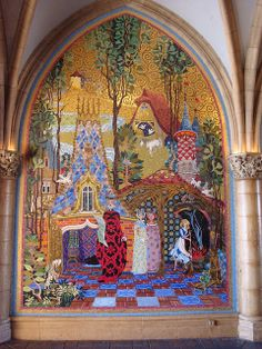 mural mosaic | Mosaic Mural, inside the Cinderella Castle | Flickr - Photo Sharing!