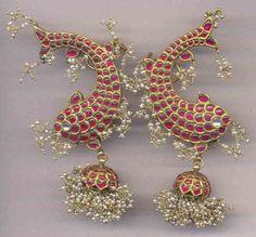 Fish Earrings By Amrapali Jewels
