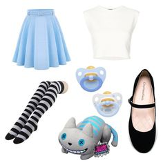 """""""Alice"""" by purpledymond0425 on Polyvore featuring WithChic, Puma, City Classified, Funko, little, littlefashion and ddlgclothes"""