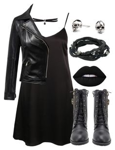 """Who To Be A Lady Dark"" by witch-16 ❤ liked on Polyvore featuring Fallon, Glamorous, Kasun, King Baby Studio, tumblr, rocker and polyvorefashion"