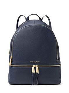 6130008d13128 ... Michael Kors Womens Large Rhea Zip Leather Leather Backpack Admiral  Check out this great product .