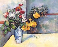 Still Life Flowers In A Vase Paul Cezanne Reproduction   1st Art Gallery