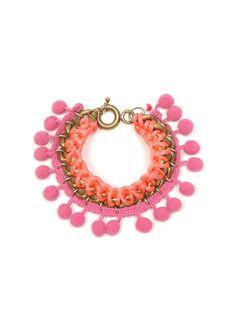 Pom Pom Chain Bracelet