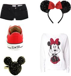 Minnie Mouse Outfit<3. Cute for Halloween and mom friendly :)