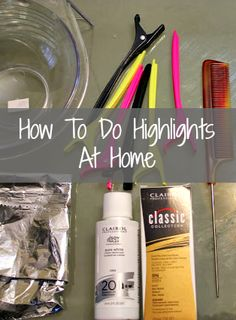 How to do your own highlights or lowlights at home! Easy step-by-step tutorial!