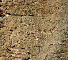 Bubalus antiquus de I-n-Habeter - Messak Settafet - Libye http://aars.fr/bubalin_fr.html
