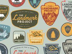 Landmark Patches by Jacob Boyles #Design Popular #Dribbble #shots