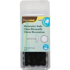 Dritz 44284 Upholstery Decorative Round Head Nails, Bronze, 7/16-Inch, 24-Pack by Dritz. $4.40. Decorative nails have been design to help you with all your home decorating projects. This nails will give each project a more professional finish. Each package contains 24 nails. Available in bronze color. Measures 7/16-inch size. This decorative nails have been design to help you with all home decorating projects. These nails will give each project a more professional finish and quic...