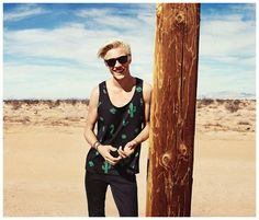H&M Loves Coachella Collection: Lucky Blue Smith Models 2015 Festival Styles