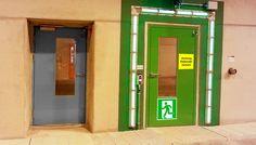 Tunnel-Fluchtwegstüren mit F90-Verglasung Fire Prevention, Lockers, Locker Storage, Cabinet, Furniture, Home Decor, Fire Safety, Clothes Stand, Decoration Home