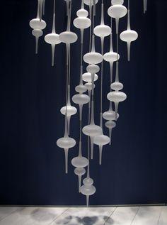 Contemporary style glass pendant lamp ALPHA - melogranoblu
