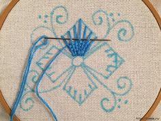 Вышивка переплетением нитей