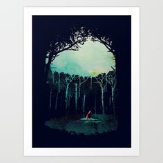 Buy Deep in the forest Art Print by astronaut. Worldwide shipping available at Society6.com. Just one of millions of high quality products available.
