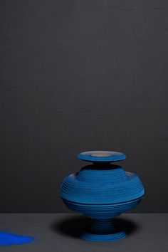 <p>Referencing the first man-made pigment that was developed as early as 2600 BCE, Blue Alchemy is the new bright blue edition of artist Siba Sahabi's iconic felt vases. The ancient Egyptians held the