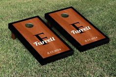 Contemporary Rosewood Stained Wedding Cornhole Game Set
