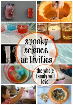 15 super spooky Halloween science experiments and activities. What a fun way to make this season of scary into a season of learning. Spooky Halloween, Halloween Science, Halloween Activities For Kids, Halloween Themes, Stem Science, Science Experiments Kids, Science For Kids, Science News, Science Fair Projects