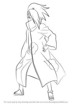 Learn How to Draw Deidara from Naruto (Naruto) Step by Step : Drawing Tutorials Naruto Sketch, Naruto Art, Anime Sketch, Naruto Drawings Easy, Easy Drawings, Akatsuki, Sketches Tutorial, Drawing Tutorials, Friends Sketch