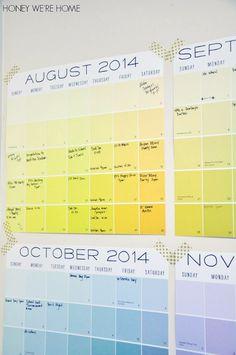Yellow Wall Decal Calendar By Janz
