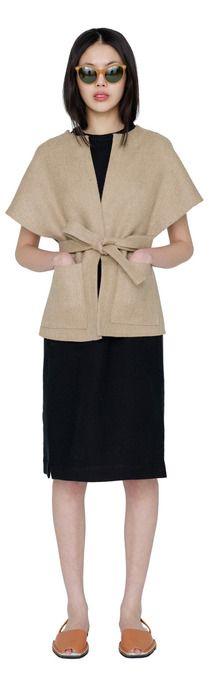 Mia linen wrap vest by Apiece Apart