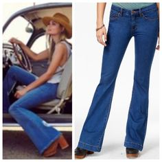 """NWOT Free People clean flared jeans in Dallas wash NWOT Free People clean flared jeans in Dallas wash. Mid rise. Cotton, polyester, spandex, rayon.  Brand new without tags.  No trades.  Price is firm.  Waist when measured flat 15"""".  Inseam 33"""". Free People Jeans Flare & Wide Leg"""