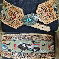 Cowgirl Dream Belts: Designs by Triesta - this is stunning Cowgirl Belts, Western Belts, Cowgirl Style, Cowgirl Fashion, Boho Fashion, Western Chic, Western Wear, Rodeo Girls, Native American Beadwork