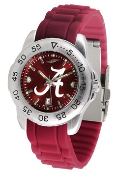 Alabama Crimson Tide Sport AnoChrome Watch With Color Band