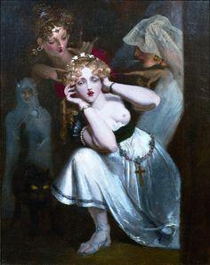 Theodore Von Holst Bertalda Frightened by Apparitions