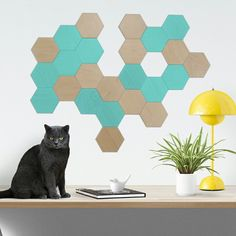 Mint & Wood - Bee Apis hexagonal tiles for wall decor. Want a special color? We have a large color chart. We ship worldwide!