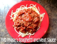 This is the BEST spaghetti I have ever had! The Fast Metabolism Diet Phase 1: Spaghetti and Meat Sauce. So yummy!