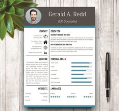 Creative CV / Resume Template by wordresume on @creativemarket