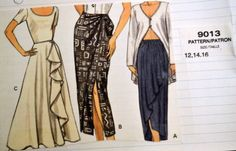 Sewing Pattern Vogue 9013 Misses' Skirts Size 12-14-16 Waist 27-30 inches  Uncut Complete by GoofingOffSewing on Etsy
