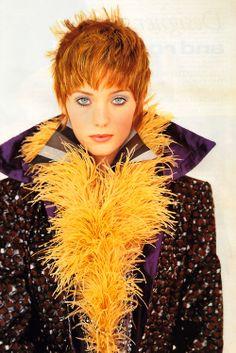 Arthur Elgort for Vogue UK, December 1992. Coat by Koji Tatsuno.