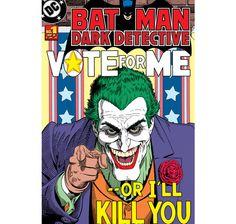 Batman Fototapete Joker Vote for Me. 232x158 cm. Hier bei www.closeup.de