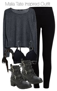 """Malia Tate Inspired Outfit with leggings"" by staystronng ❤ liked on Polyvore featuring Pieces, MANGO, Aerie, TeenWolf, Leggings, tw and maliatate"