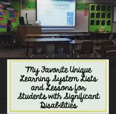 delightfully dedicated : My Favorite Unique Learning Systems Lists and Lessons for Students with Significant Disabilities