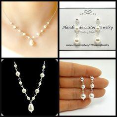 Set of 2 Mother of  Bride Gift Mother of Groom Gift by StarringYouJewelry, $112.00 #handmadejewelry #pearljewelry #pearlwedding #wedding