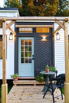 The Pacific Harmony: a stylish, luxe tiny home from Handcrafted Movement. Features two bedrooms, a full kitchen, living room, and bathroom!
