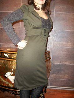 Pinup dress winter dress green dress warm by goodtimesbarcelona, $59.95