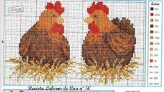 galinhas em ponto cruz - Buscar con Google